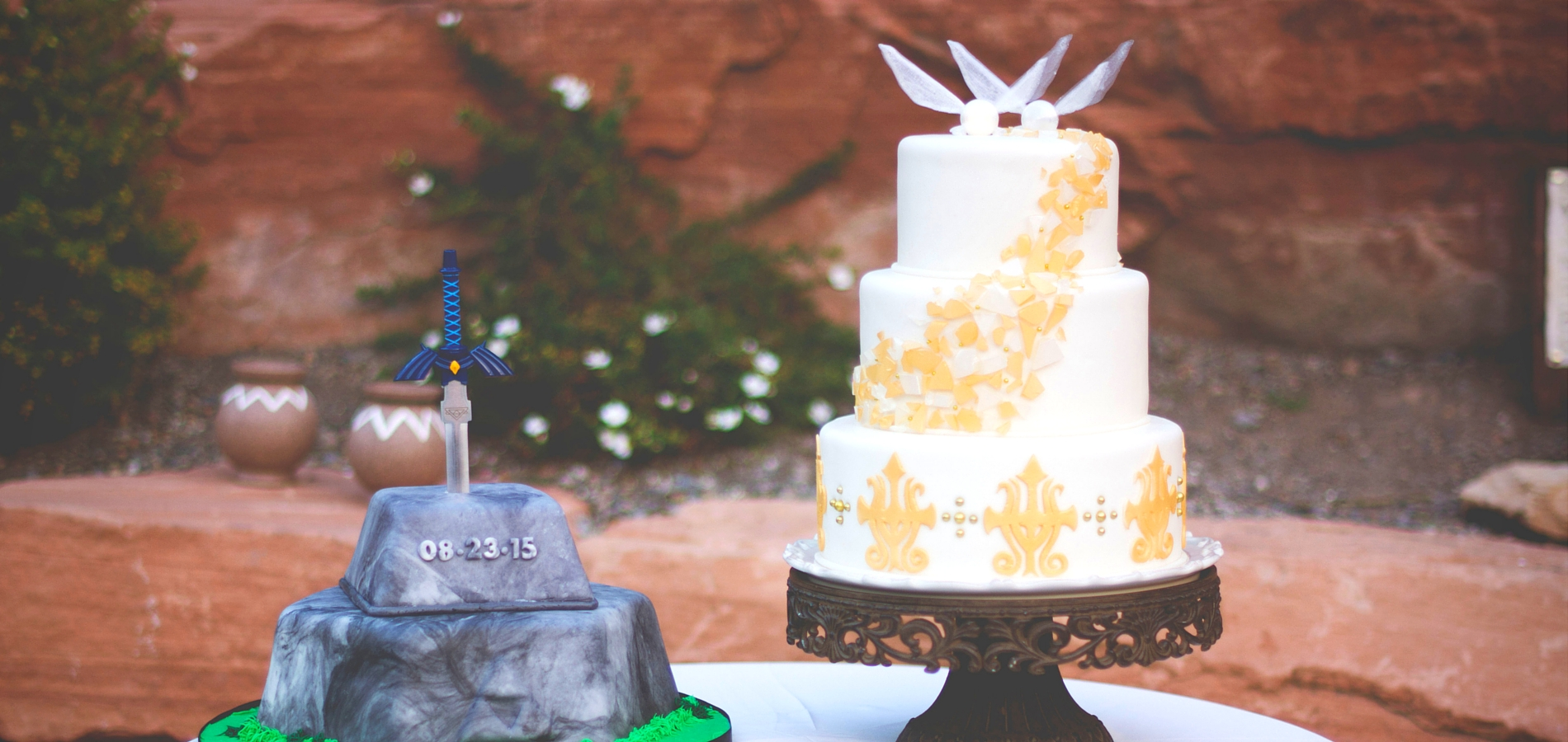 Zelda Wedding And Grooms Cakes Right Castle